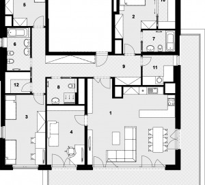 Prodej bytu 5+kk, 173 m2, Nad Vltavou, Praha 7