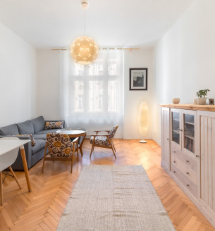 Pronájem bytu 2+1, 61 m2 - Kafkova, Praha 6