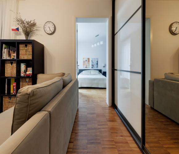 Prodej bytu 2+kk, 46 m2 - Prokopova, Praha 3