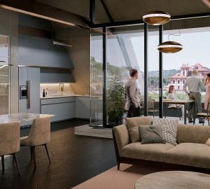 Prodej bytu 6 a více, 402 m2, Rezidence Troja, Praha 7, Pod Havránkou