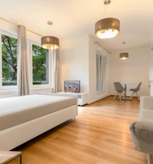 Pronájem bytu 1+kk, 37 m2 - Petrohradská, Praha 10