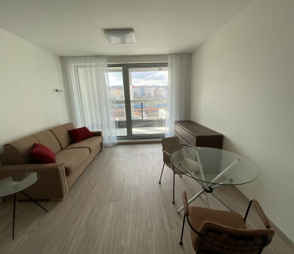Pronájem bytu 1+kk, 32 m2 - Českomoravská, Harfa Design Residence, Praha 9