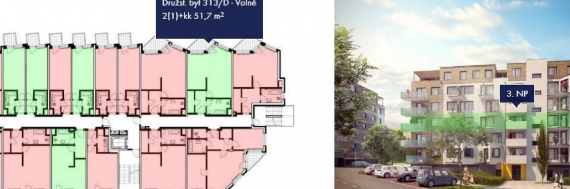 Prodej bytu 2+kk, 52 m2, Praha 5
