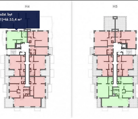 Prodej bytu 2+kk, 56 m2, Praha 9