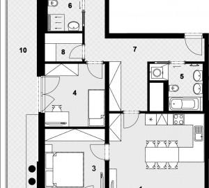 Prodej bytu 4+kk, 111 m2, Nad Vltavou, Praha 7